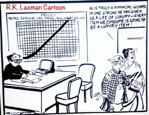 R.K. Laxman Cartoon